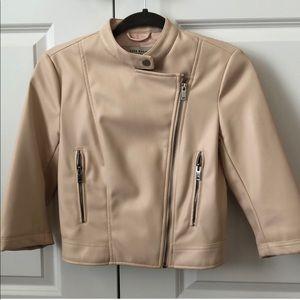 Zara Faux pink leather jacket